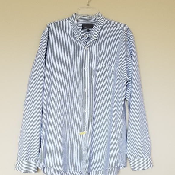 Vince Other - Vince. Mens Blue White Striped Long Sleeve Size XL